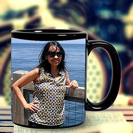 Personalized Photo Mug-black ceramic coffee mug