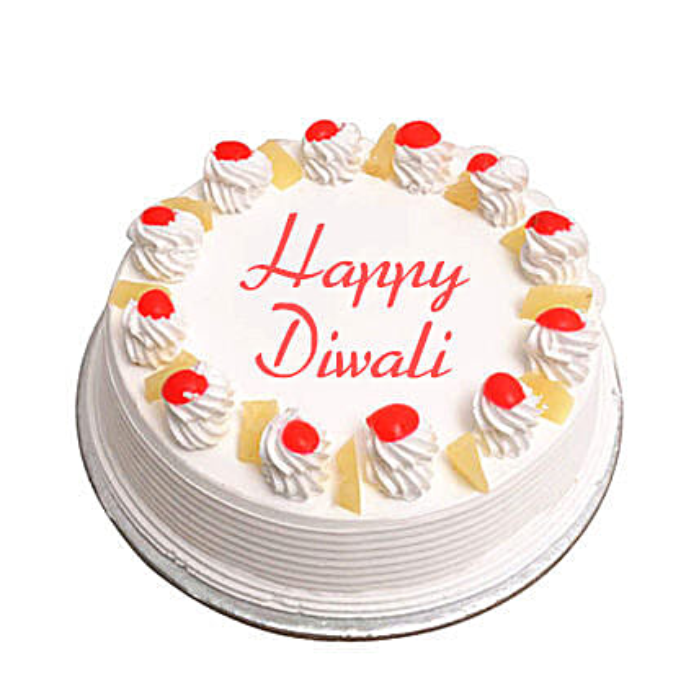 Pineapple Cake For Diwali Eggless 2Kg