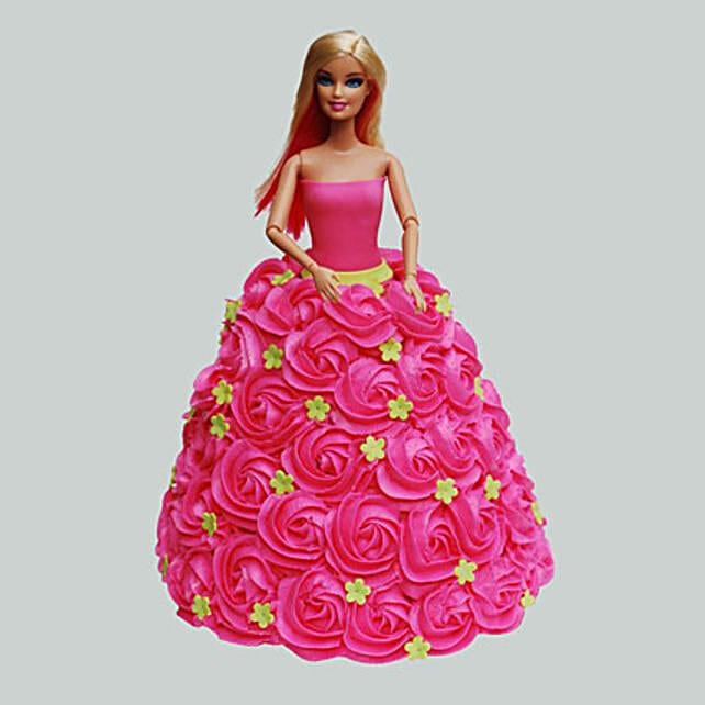 Groovy Pink Barbie Cake Black Forest 2Kg Gift Barbie Birthday Cake 2Kg Funny Birthday Cards Online Alyptdamsfinfo