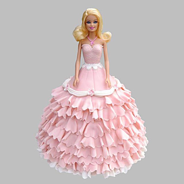Pink Floral Barbie Cake 2Kg Chocolate