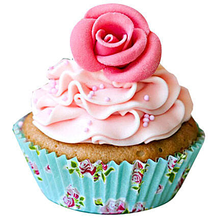 Pink Rose Cupcakes 12 by FNP