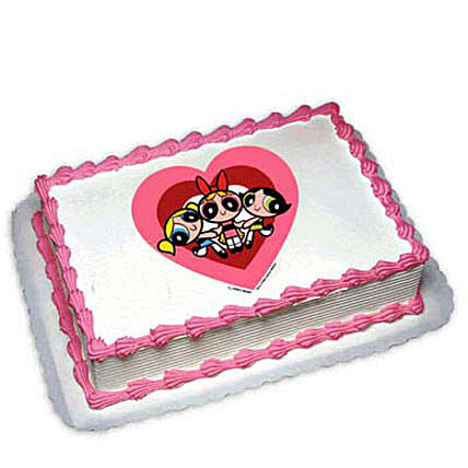 Powerpuff Girls Photo Cake 1kg by FNP