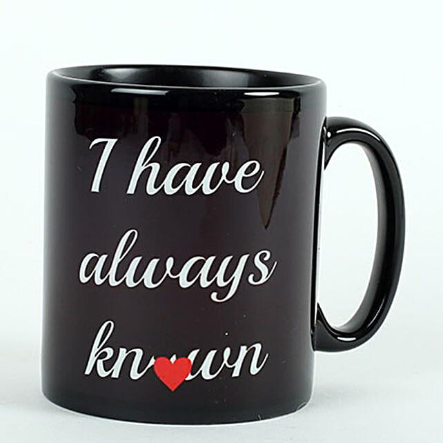 Printed Ceramic Black Mug