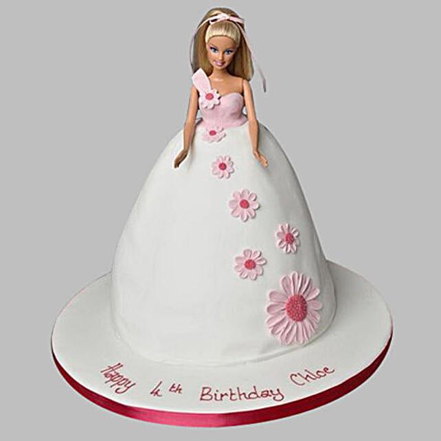 Pristine White Barbie Cake 3Kg Truffle