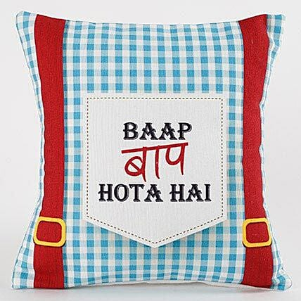 Quirky Printed Cushion For Dad