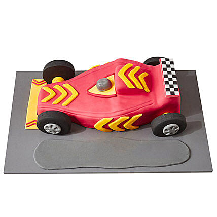 Racing Car Fondant Cake Pineapple 2kg