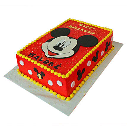 Terrific Red Mickey Mouse Cake 2Kg Eggless Truffle Gift Mickey Face Funny Birthday Cards Online Elaedamsfinfo