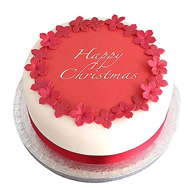 Red N White Christmas Fondant Cake Chocolate 2kg