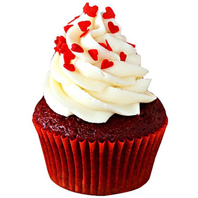Red Velvet Cupcakes 6 Eggless