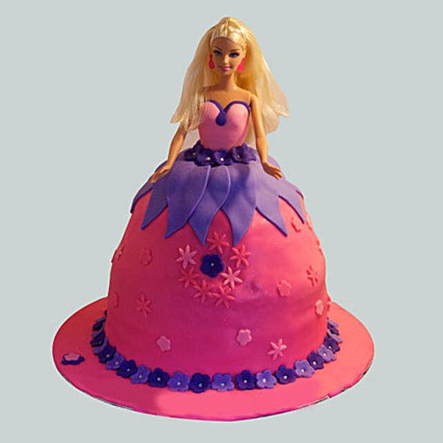 Royal Barbie Cake 2kg Eggless Butterscotch