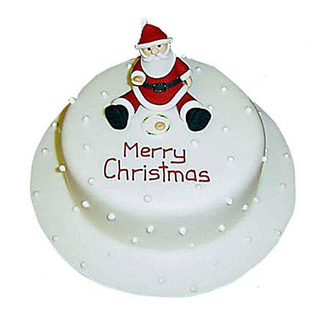 Santa Christmas Cake 1kg Eggless