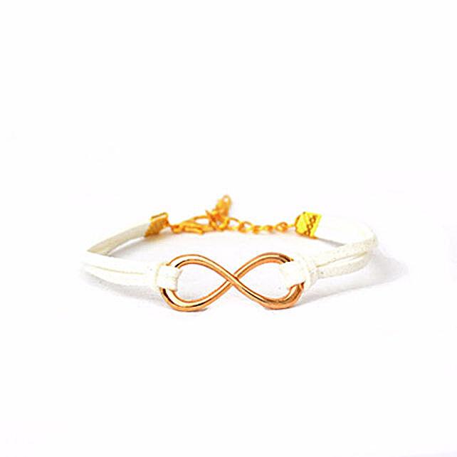 Serene White Infinity Bracelet