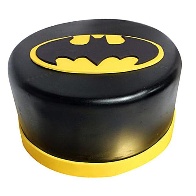 Shining Batman Cream Cake 1kg Eggless