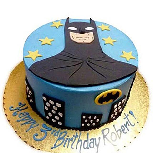 Shiny Batman With Stars 3Kg Eggless Chocolate