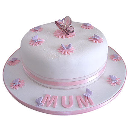Simple and Sweet Love Mom Cake 4kg Eggless Butterscotch