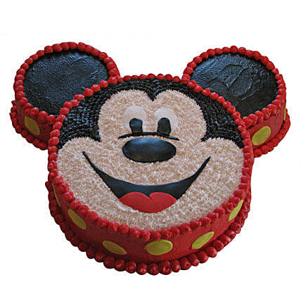Smiley Mickey Mouse Cake 3Kg Eggless Pineapple