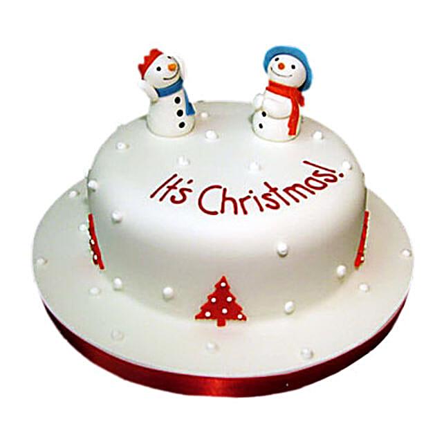 Snowman Christmas Cake 1kg Eggless