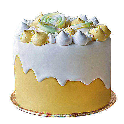 Soothing Fondant Cake Butterscotch 3kg Eggless