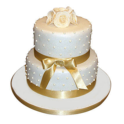 Special 2 Tier Anniversary Cake Butterscotch 4kg Eggless