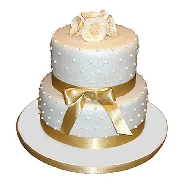 Special 2 Tier Anniversary Cake Vanilla 5kg Eggless