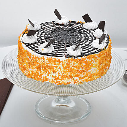 Butterscotch Cake Half kg Eggless:Cake Delivery in Jorhat