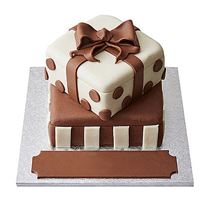 Special Gift Box Fondant Cake Chocolate 2kg Eggless