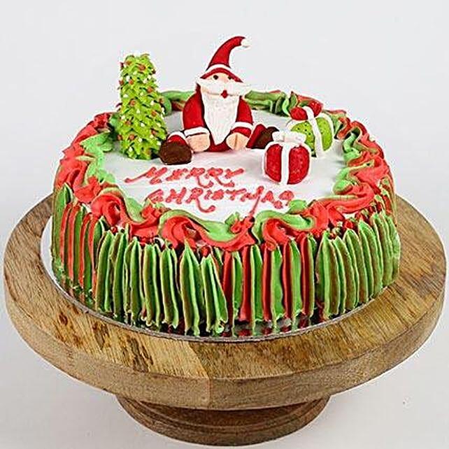 Special Santa Claus Pineapple Cake- 2 Kg