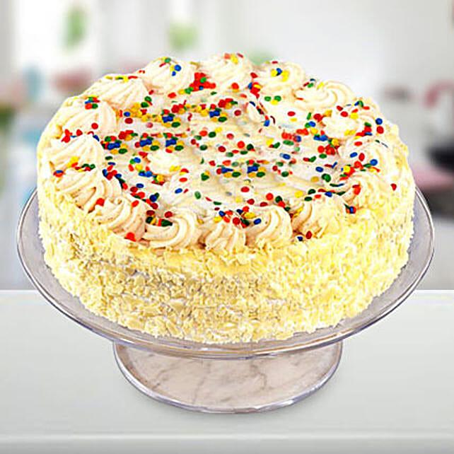 Vanilla Cake Half kg:Send Cakes to Wayanad
