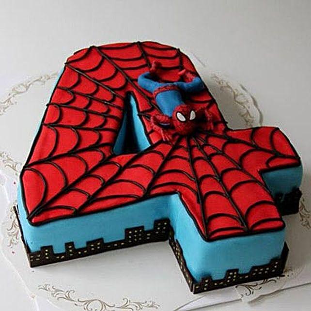 Spiderman Birthday Cake 4Kg Butterscotch