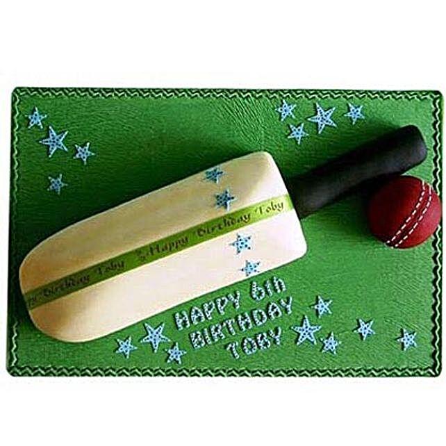 Splendid Cricket Bat Ball Cake 4Kg Eggless Butterscotch