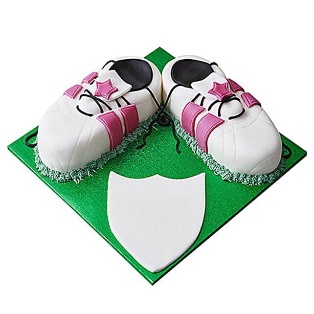 Sports Shoe Fondant Cake Truffle 3kg Eggless