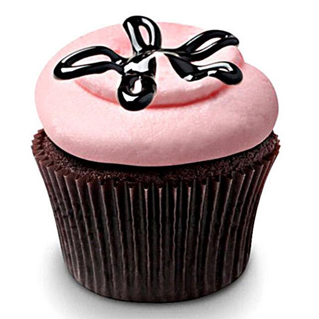 Strawberry Lava Fudge Cupcakes 24 Eggless