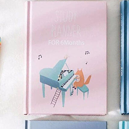 Study Planner for 6 Months Pink