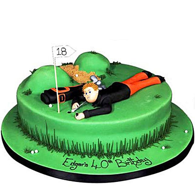 Stunning Golf Course Cake 3Kg Eggless Butterscotch