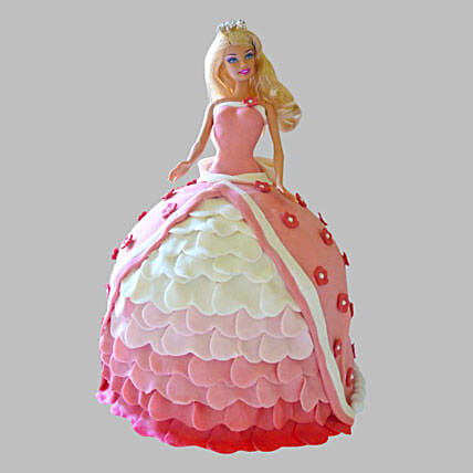 Style Queen Barbie Cake 3Kg Eggless Pineapple