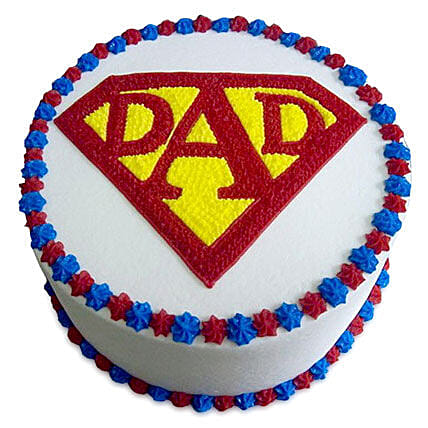 Super Cake For A Super Dad 1kg Pineapple Eggless