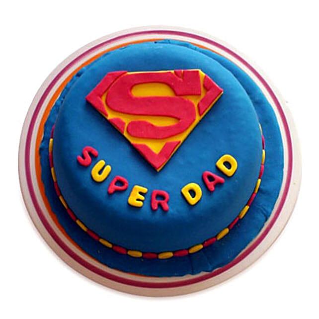 Super Dad Designer Cake 1kg Chocolate Eggless