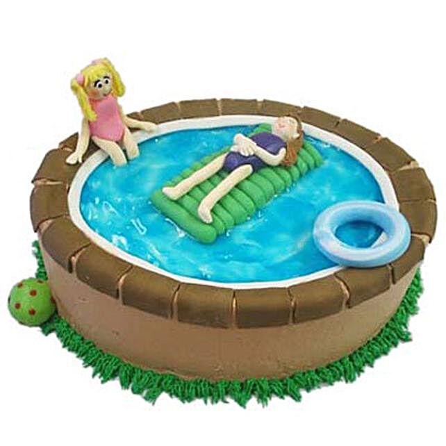 Swimming Pool Cake 3Kg Eggless Chocolate