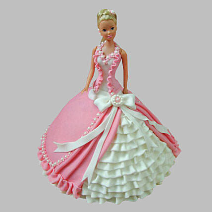Ultra Style Queen Barbie Cake 2Kg Eggless Chocolate