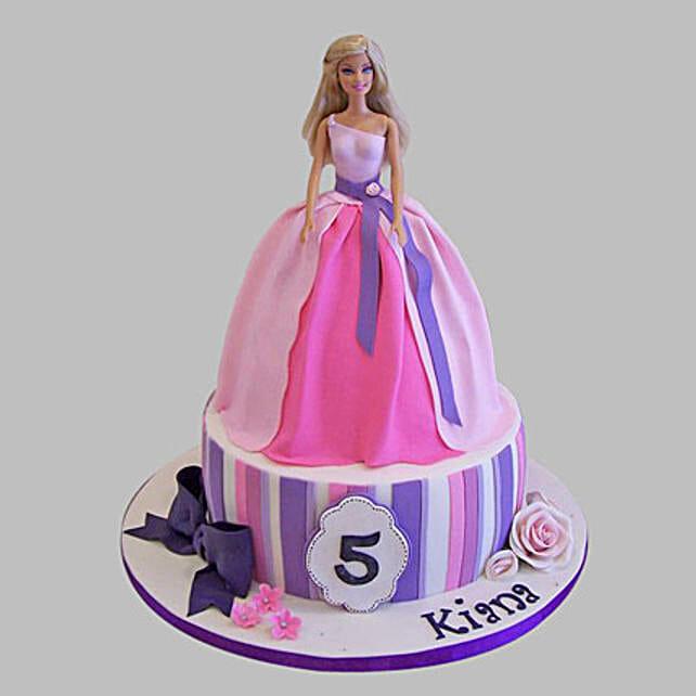 Strange Wishful Barbie Cake 3Kg Black Forest Gift Ariel Barbie Birthday Funny Birthday Cards Online Fluifree Goldxyz