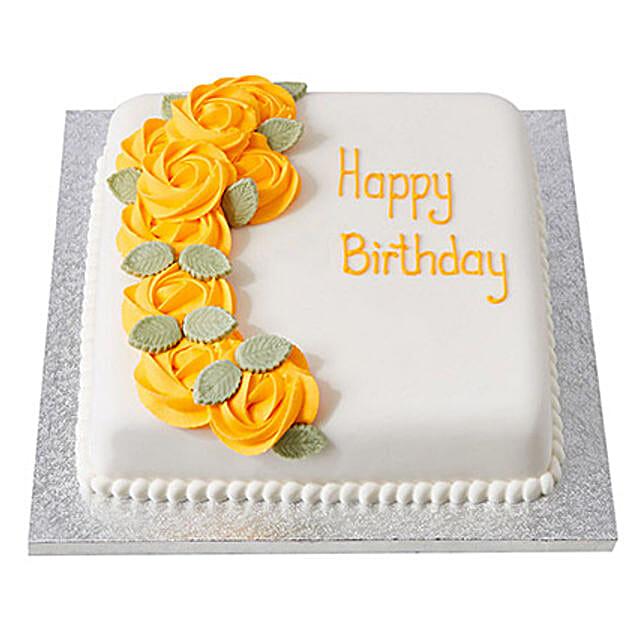 Yellow Roses Fondant Cake Truffle 1kg