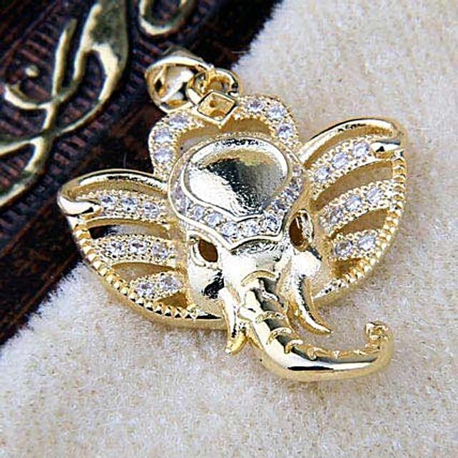 Golden ganesha pendant