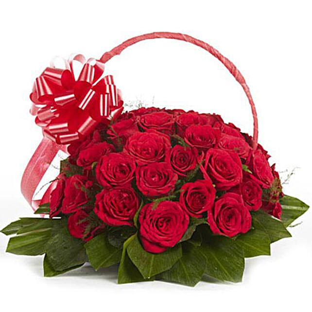 Graceful Grandeur - Arrangement of 30 red roses.