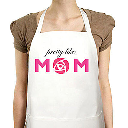 World Class Mom Special Apron-special printed white apron