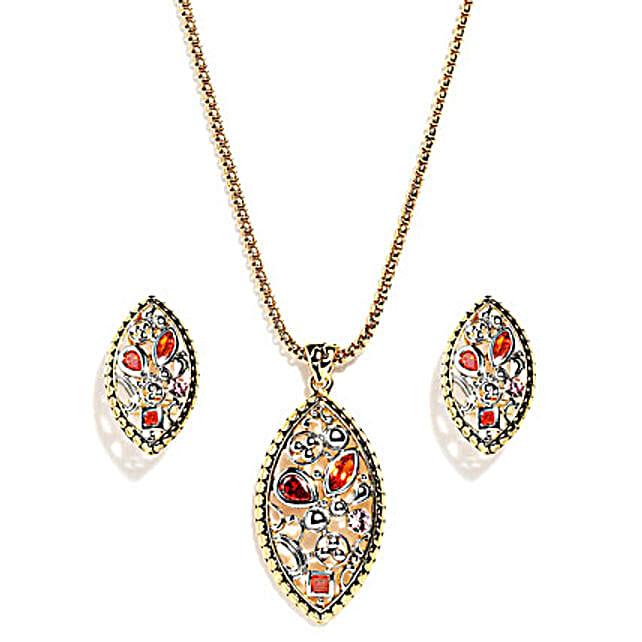 Olivary Irregular Pattern Jewelry Set