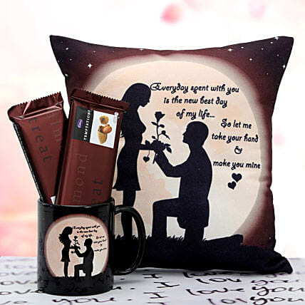 Propose Her:Cushions and Mugs Combo