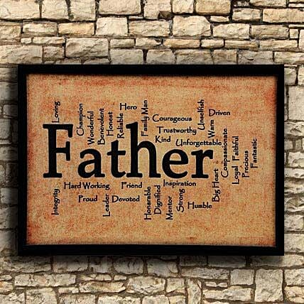 """Printed """"Father"""" Frame for Dad:Gifts to Rajahmundry"""