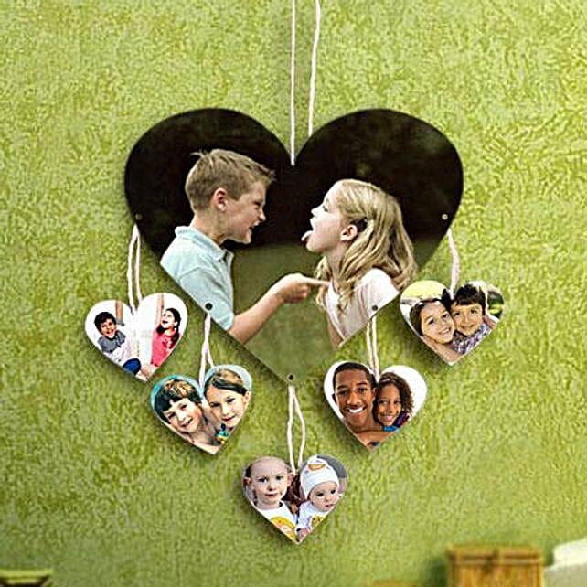 Personalized hanging heart shaped photo frame:Photo Frame