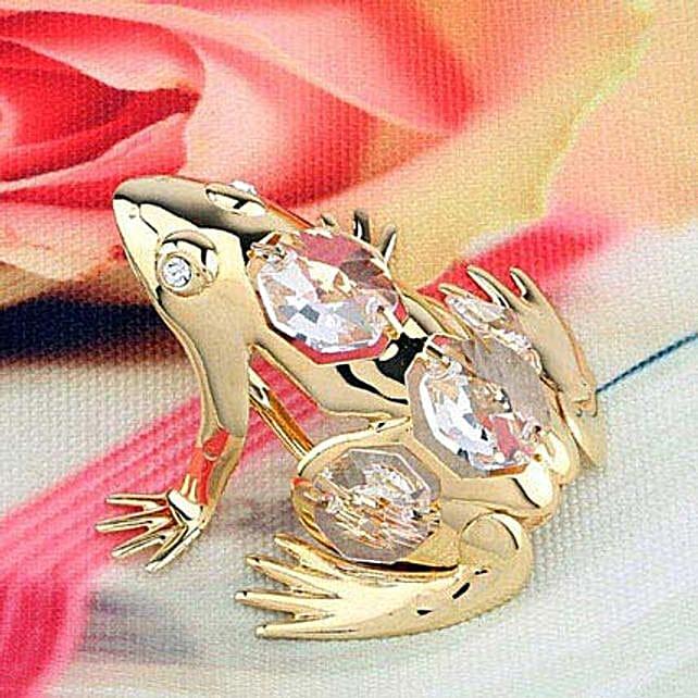 Swarovski golden frog