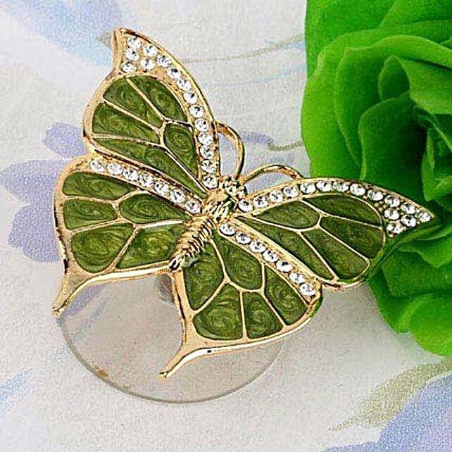 Swarovski golden suncatcher butterfly